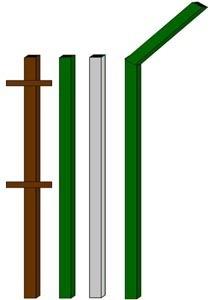 изготовление металлические столбы в Анапе